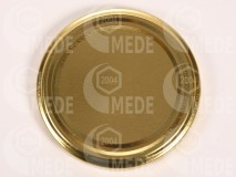 Viečko plechové zlaté 66mm