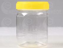 Műanyag mézes flakon 250g szögletes