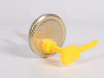 Dávkovač na med s viečkom - zlaté, plást 82mm