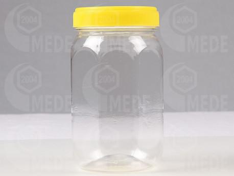 Műanyag mézes flakon 500g szögletes