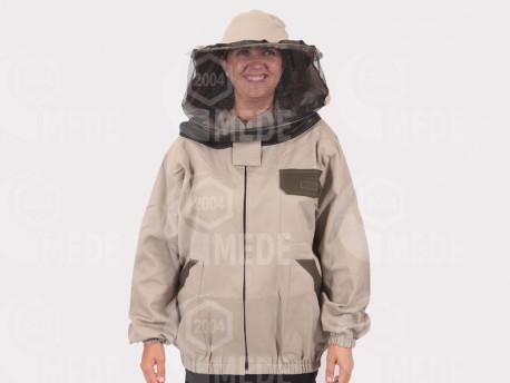 Včelárska bunda s klob. hrubá, béžová S/M