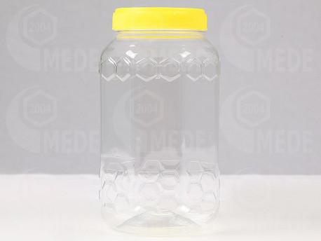 Plastový obal na 1000g medu hranatý