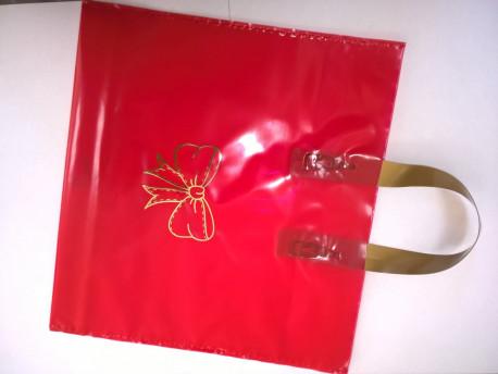 Darčeková taška na 2 x 1kg medu červená+zlatá