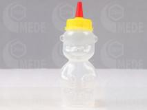 Plastový macík na 250g medu červená špička