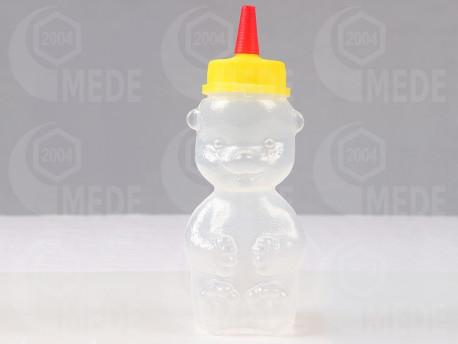 Műanyag mézes maci 250g piros tetős