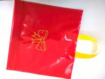 Darčeková taška na 2 x 1kg medu červ+žltá, 25ks