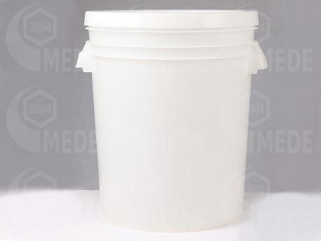 Műanyag edény fedéllel 35l