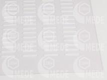 Materská mriežka plast číra 290x480