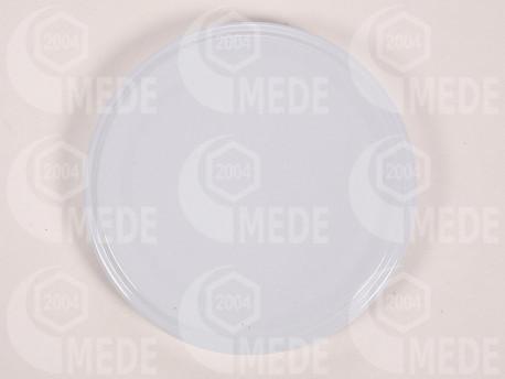 Viečko plechové biele 89mm