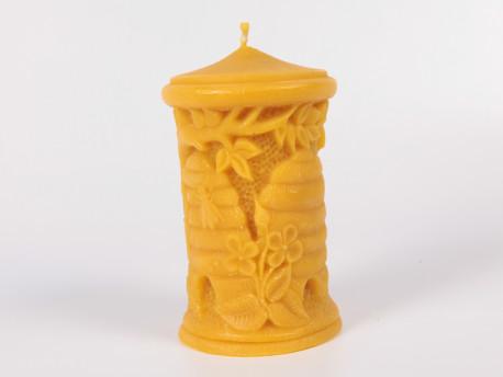 Henger alakú kaptárral díszített gyertya