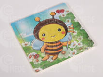 Puzzle drevené 16 dielne včela