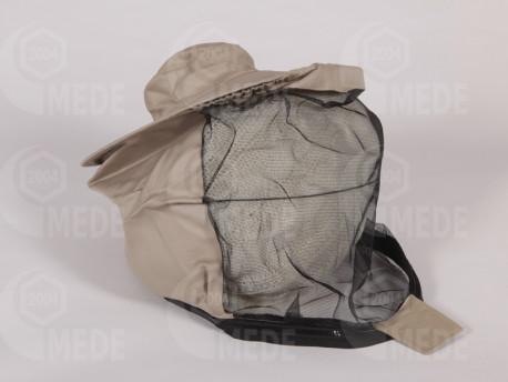 Včelársky klobúk so zipsom k zips. ob. béž