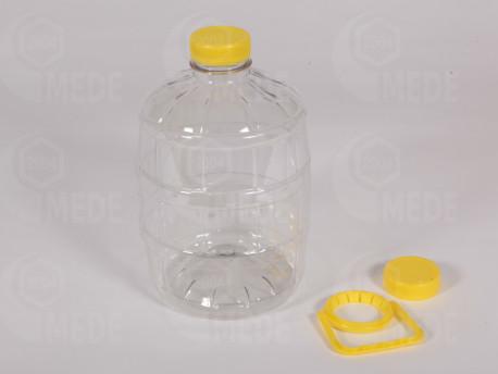 Plastový súdok na kŕmenie 3l s 2 uzávermi