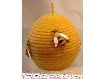 Golyó méhekkel gyertya