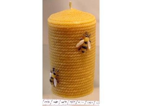 Sviečka Valček so včelami 100 x 60