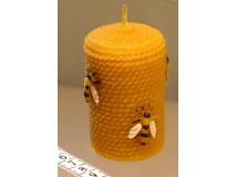 Sviečka Valček so včelami 80 x 55