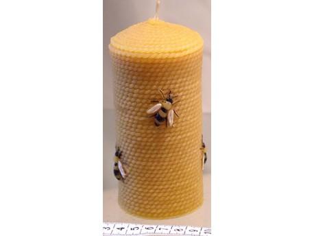 Sviečka Valček so včelami 135 x 65