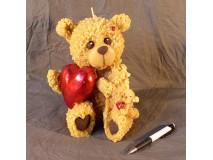 Nagy medve szívvel gyertya