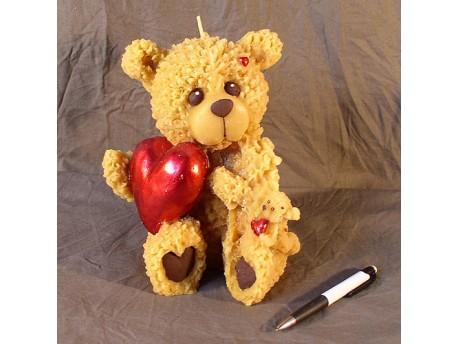 Sviečka Veľký medveď so srdcom