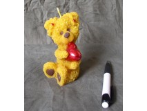 Medve szívvel gyertya