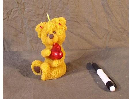 Sviečka Medvedík malý so srdcom