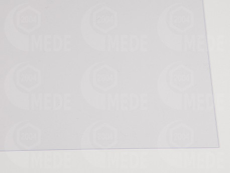Fedélfólia átlátszó, szélesség 1m, vastagság 0,4mm