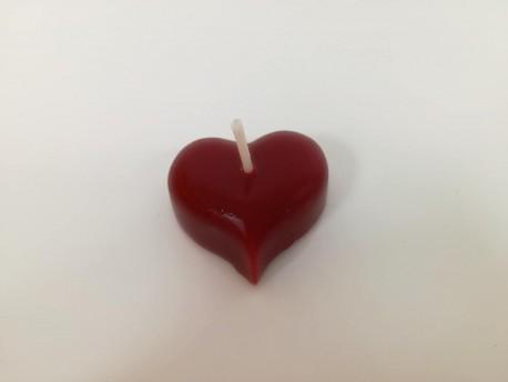 Sviečka Srdce červené vypuklé