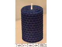 Sviečka vinutá valček 60 x 43 modrá