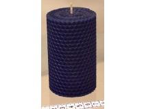 Sodrott gyertya 100 x 60 kék