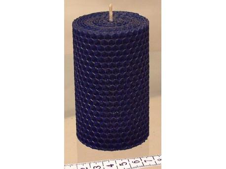 Sviečka vinutá valček 100 x 60 modrá