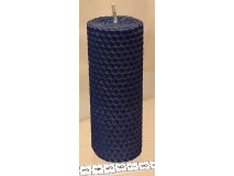 Sviečka vinutá valček 120 x 45 modrá