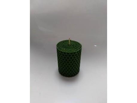 Sviečka vinutá valček 60 x 43 zelená