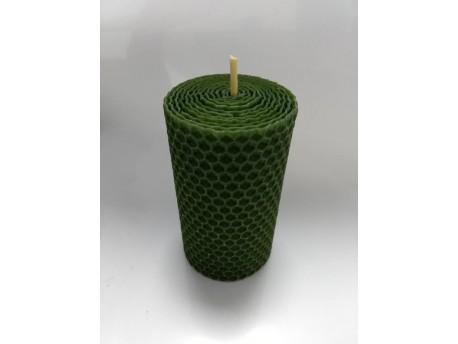Sviečka vinutá valček 100 x 60 zelená