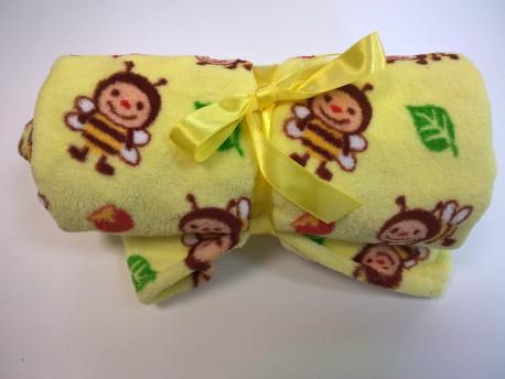 Wellsoft detská deka so včelami 70x100cm