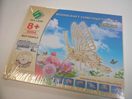 Puzzle motýľ - natúr
