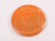 Viečko plechové oranž+plást 82mm