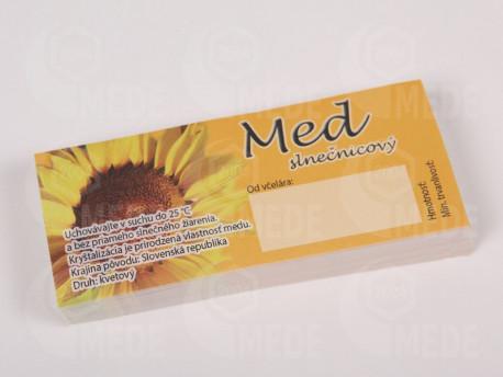 Etikety na slnečnicový med 100ks