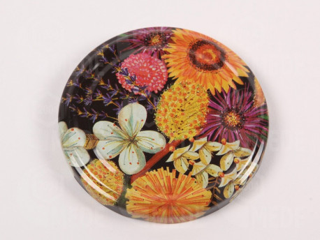 Viečko plechové kvetinkové 82mm