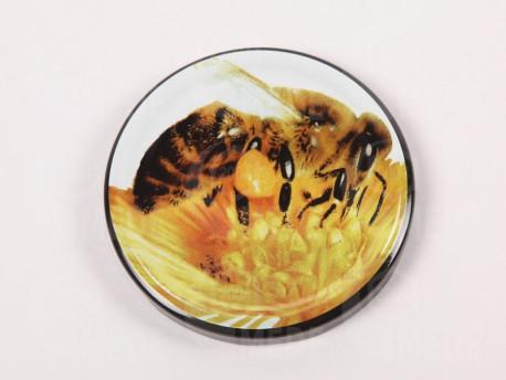 Viečko plechové čierne+včela 82mm