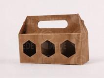 Darčeková krabica na 3x250g medu,vrúbkovaný kartón