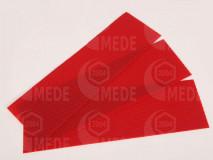 Medzistienky červené rezané na pásy 39x10cm, kg