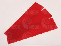 Medzistienky červené rezané na pásy 39x8cm, kg