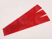 Medzistienky červené rezané na pásy 39x6cm, kg