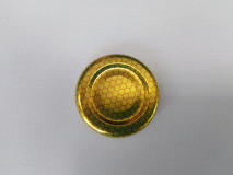 Viečko plechové zlaté+plást 43mm