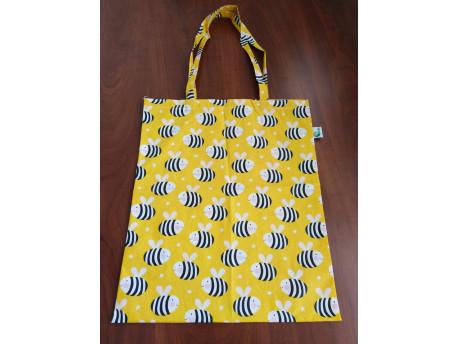 Nákupná taška skladacia, včela, dlhé uško