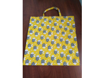 Nákupná taška skladacia, motív včela, krátke uško