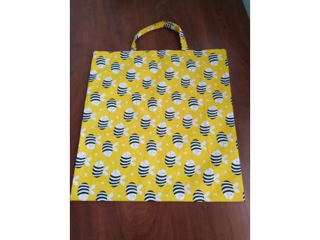 Nákupná taška skladacia, včela, krátke uško