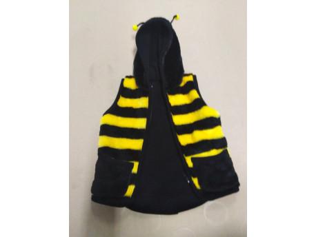 Detská vesta, motív včielka, s podšívkou