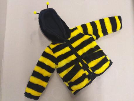 Gyerekkabát, méhecske mintás