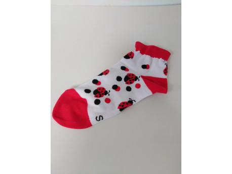 Ponožky dámske, motív lienka